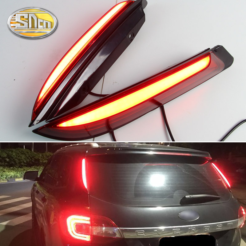SNCN 2PCS Multi-functions Car LED Rear Fog Lamp Pillar Light Bumper Light Brake Light Reflector For Ford Everest 2016 2017 2018 allblue slugger 65sp professional 3d shad fishing lure 65mm 6 5g suspend wobbler minnow 0 5 1 2m bass pike bait fishing tackle