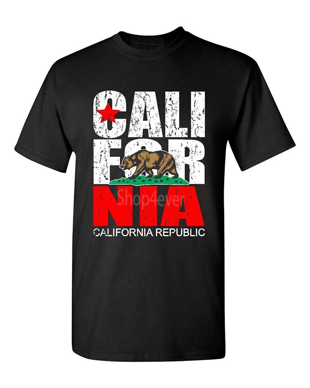 Black flag t shirt vintage - O Neck Stylish 100 Cotton T Shirt California Republic Vintage T Shirt State