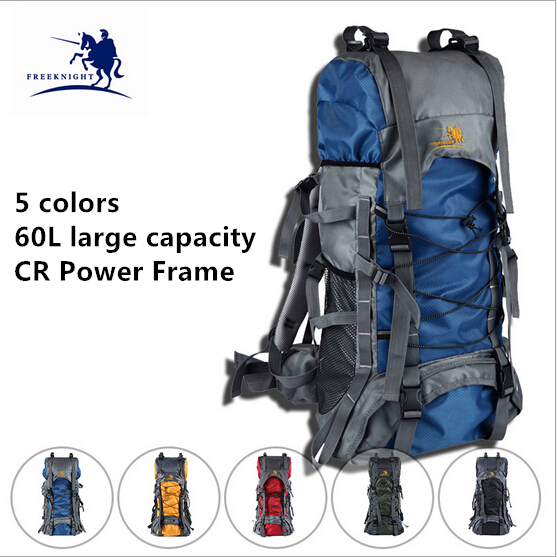 Brand 60 L Unisex Water Resistant Professional Camping Hiking Backpack Sport Mountaineering Traveling Pack 5 Colors Available