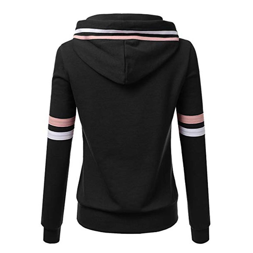 Fashion 2018 new autumn loose casual hoodies women hooded sweatshirts elastic waist street wear girl's tracksuit tops 10Nov 06