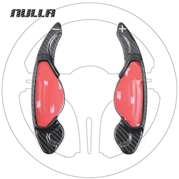 NULLA Carbon Fiber Car Steering Wheel Shift Paddle Shifter Paddles Sticker For Jaguar Land Rover Range Rover Evoque Freelander