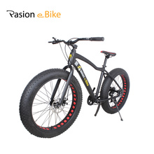 PASION E VÉLO 7 vitesse En Aluminium vtt cadre noir 26*4.0 fat tire vélo bicicleta vélos avec fender