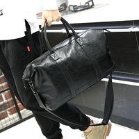 Xiao P Brand PU Leather Men S Travel Bag Luggage Travel Bag Men Carry On Duffel