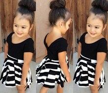 SQ194 Бесплатная доставка девушки комплект одежды детская одежда девушки Футболка + платье 2 шт. набор детей подходит детская одежда розничная
