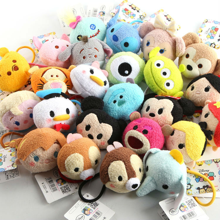 40 pcs Tsum mini lot plush hair bands Minnie Mickey mouse Winnie Duffy Stitch Dumbo dolls