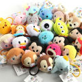 40 pcs Tsum mini lot plush hair bands Minnie Mickey mouse Winnie Duffy Stitch Dumbo dolls Hair rope for girl gift free shipping