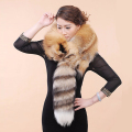 Besty Lady women whole Real Red fox fur skin scarf  Women Fur Natural Color Shawl Elegant Trendy Luxury Design Women's Scarf