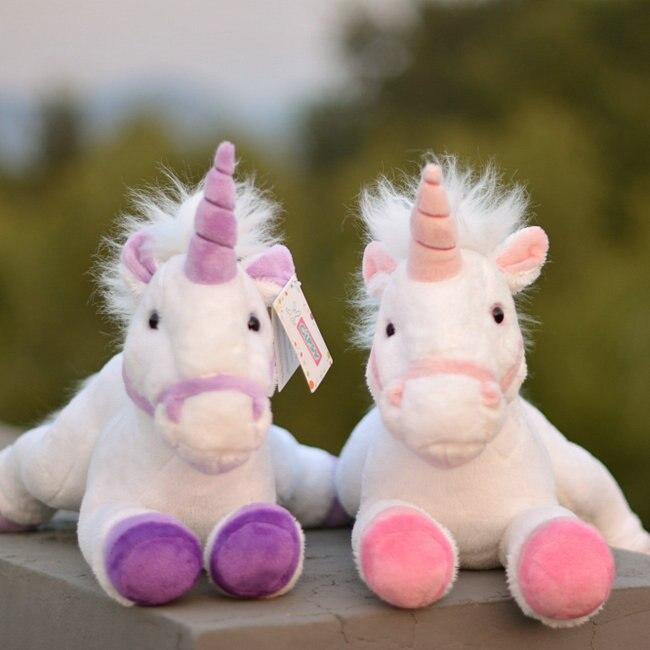 Vraie vie peluche licorne poupée jouets enfants cadeaux d'anniversaire jouet filles présentes Super doux poney poupées