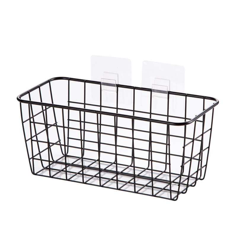 2018 Iron Wall Mounted Storage Baskets Bathroom Saving Space Storage Box  Creative Free Punch Loading 5kg Desktop Box In Storage Baskets From Home U0026  Garden ...