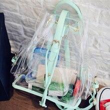 Новое поступление; Летнее корейский стиль же коллекции Лин xiaozhai Водонепроницаемый прозрачные рюкзак личные панелями рюкзак