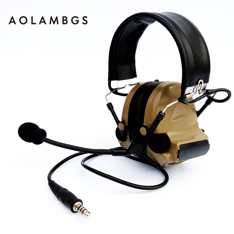 ФОТО Tactical Headset IPSC Shooting Ear Protectors With Pickup Function Sport Hunting Electronic Hearing Protection Earmuffs