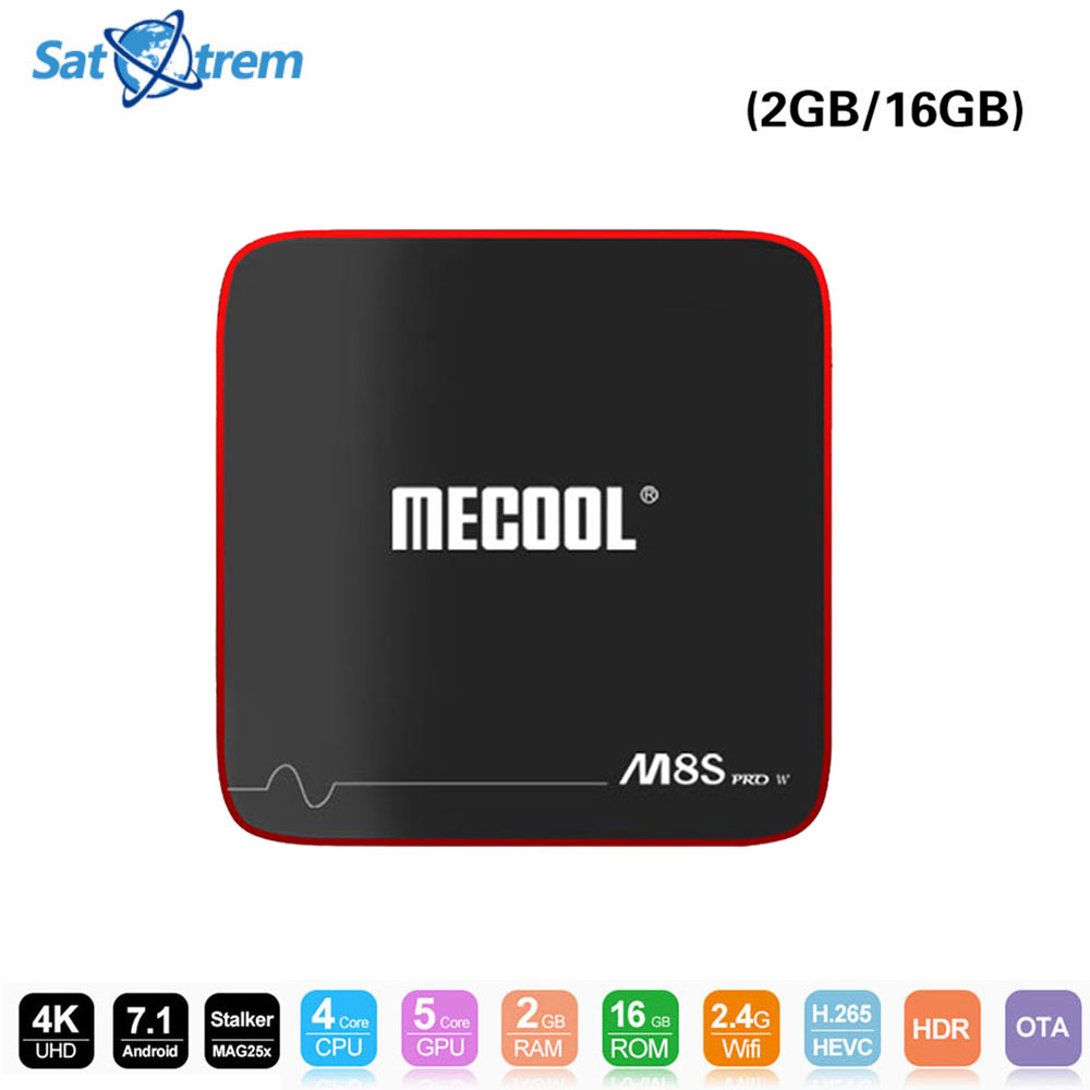 10pcs/lot SATXTREM MECOOL M8S PRO W Amlogic S905W Android Tv Box 2G/16G Android 7.1 Support 4K Wifi Stalker MAG25X Media Player
