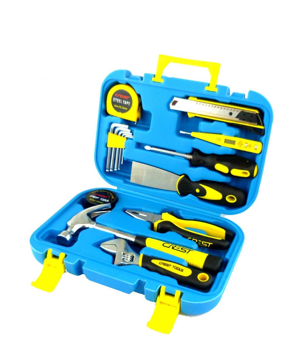 ФОТО G  T Hot 15PC hand car tools kit set & Chest Auto Home Repair Kit Metric- Lifetime Warranty 028015