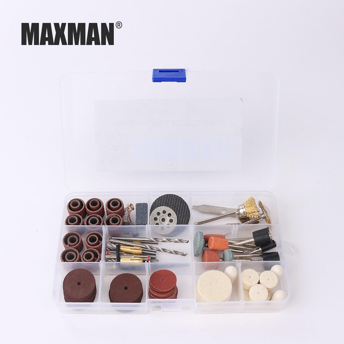 MAXMAN 256Pcs Wood Metal Engraving Electric Rotary Tool Accessories for Dremel Bit Set Grinding Polish Cutting Sheet