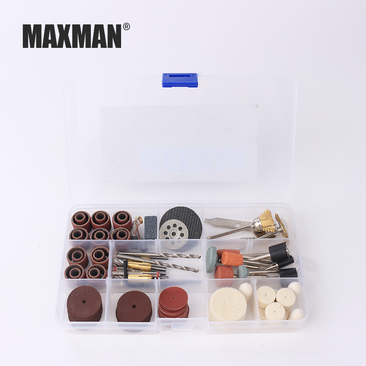MAXMAN 256Pcs Wood Metal Engraving Electric Rotary Tool Accessories for Dremel Bit Set Grinding Polish Cutting Sheet