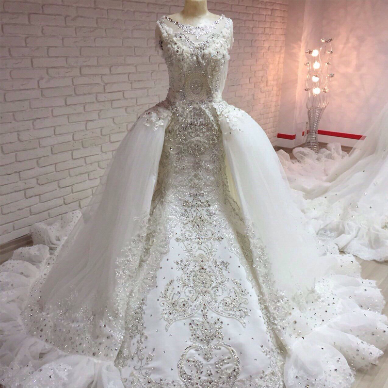 Aliexpress Com Buy Sl 82 Sweetheart Bling Bridal Gowns: Online Buy Wholesale Crystal Mermaid Wedding Dresses From