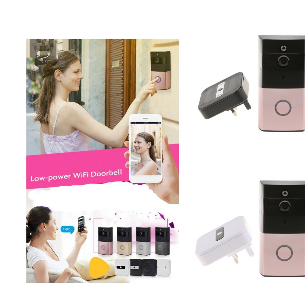Video Two Way Audio Intercom Doorbell IR Night Vision Monitor Door Phone Camera with UK Plug In Bell 1000pcs dupont jumper wire cable housing female pin contor terminal 2 54mm new