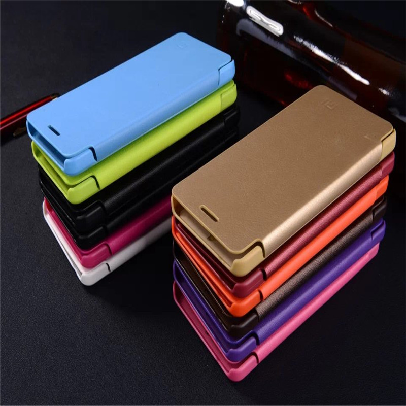 For Xiaomi mi4 Newest Design Luxury Classic Slim Flip Leather Hard Crafts Cell Phone Cover Case For Xiaomi mi 4 phone case cover