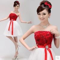 58 2015 Formal Dress Bride Bridesmaid Dress Design Short Formal Dress Tube Top Prom Dresses
