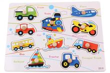 Free shipping, wooden toys, traffic cognitive makeup, early childhood transportation puzzle, montessori teaching AIDS