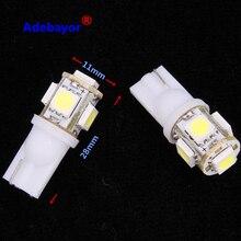 80 X تيار مستمر 24 فولت T10 194 168 5 SMD 5050 LED سيارة led مؤشر ضوء المصابيح الداخلية أداة ضوء إسفين مصباح 24 فولت