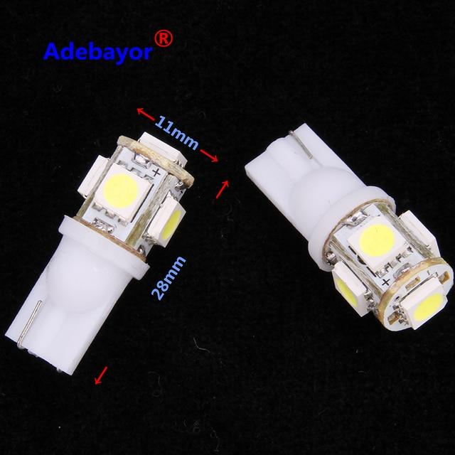 80 X DC 24V T10 194 168 5 SMD 5050 LED voiture indicateur led lumière intérieur ampoules instrument lumière cale lampe 24V