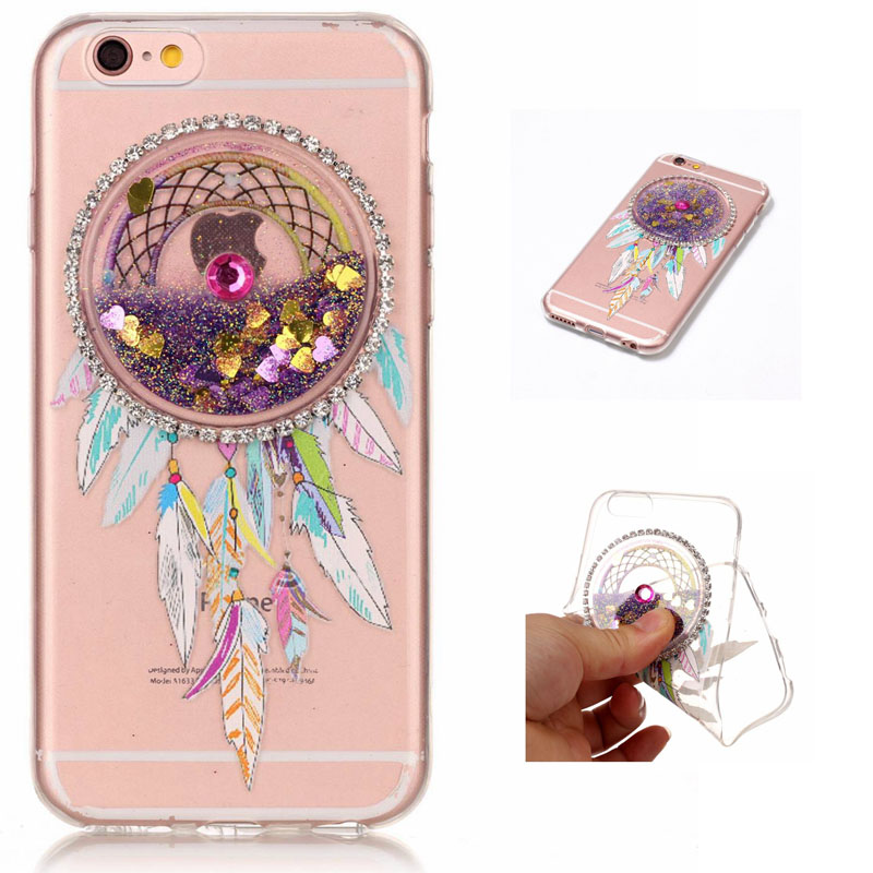 Hehan for iphone 7 Quicksand Mobile Shell for Samsung S8 TPU Pattern Case Wind Chime Encrusted Soft Case