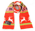 BK Scottish Style Winter Wool Knitting Scarves Popular Reindeer Embroidered Couples Scarf Men Women Winter Scarves