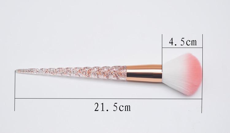 8pcs Red Glitter Diamond Unicorn Brush Crystal Brushes Foundation Blending Power Eyeshadow Brush Cosmetic Beauty Make Up Tool 16