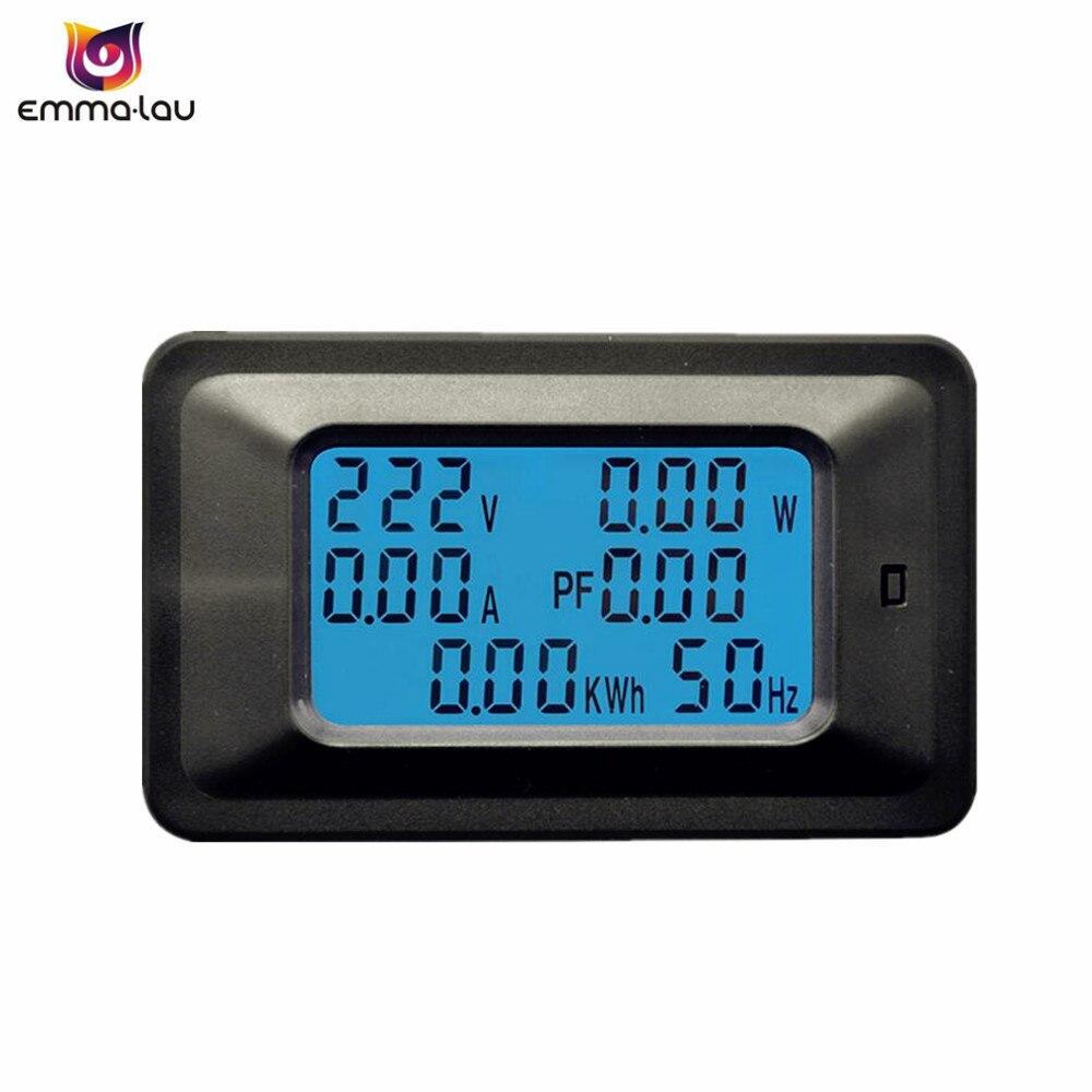 Watt Draw Meter: Digital AC 110 250V Voltage Meters 20A/100A Max Indicator