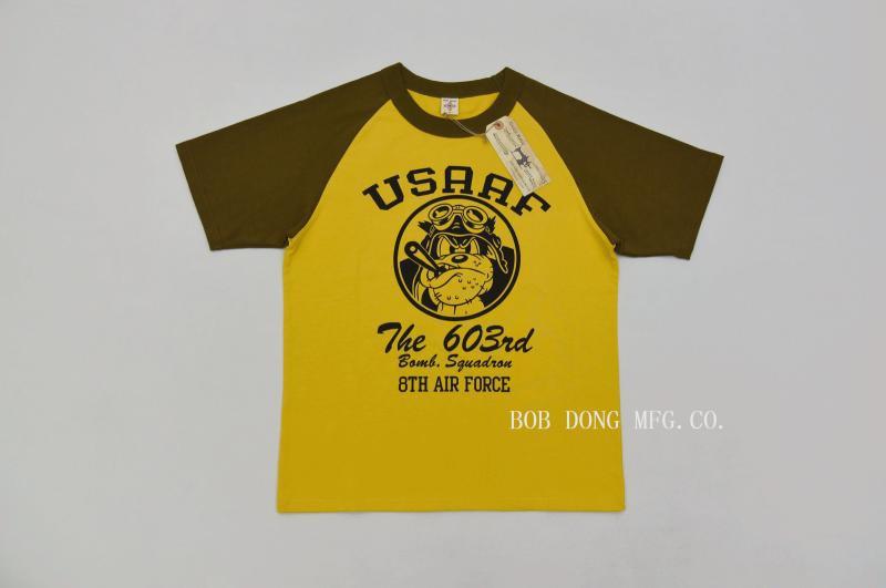 Esquadrão da Força Aérea Manga Raglan T-shirt Dos Homens