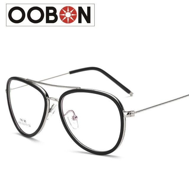 OOBON Brand Designer High Quality Small fresh Women Glasses Frame TR90  Diopter Computer Glasses Men Gold Round Black Frame 26f7b3f87dd