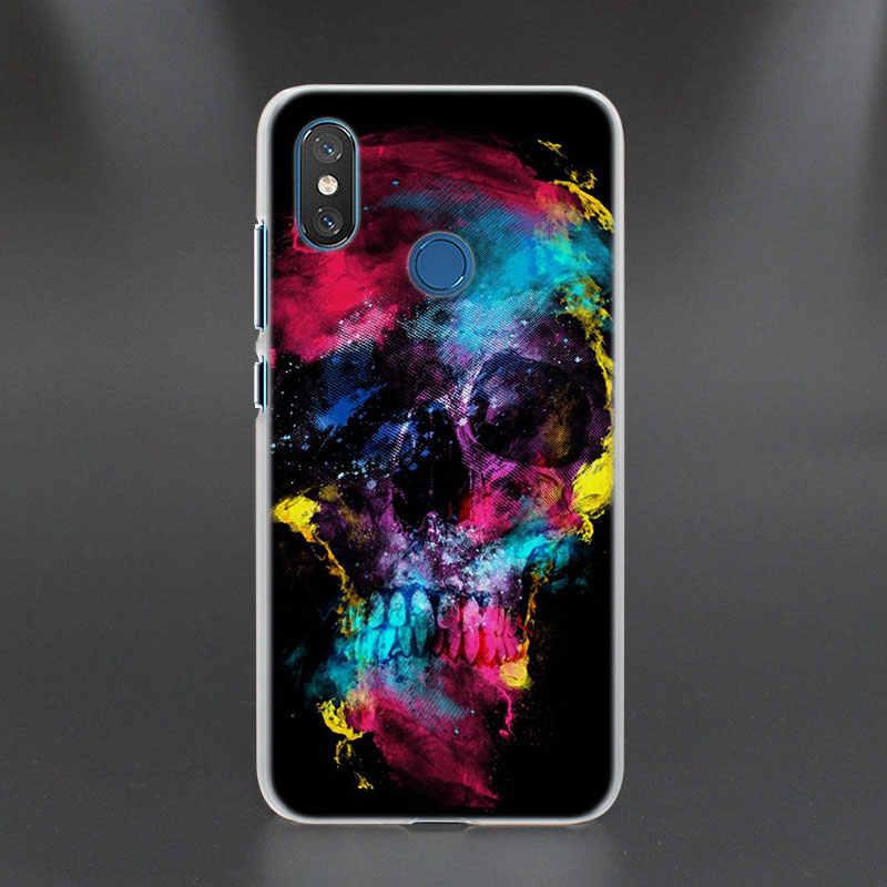 Cool crâne roi crâne motif Transparent dur coques de téléphone couverture pour Xiao mi 5X (A1) 6X (A2) 8 SE pour rouge mi S2 4X 5A 5 Plus 6 6