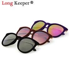 7d520a1d8 LongKeeper Brand Design Sunglasses for Women Cat Eye Sun Glasses Oval Velvet  Sunglasses Winter Style Oculos
