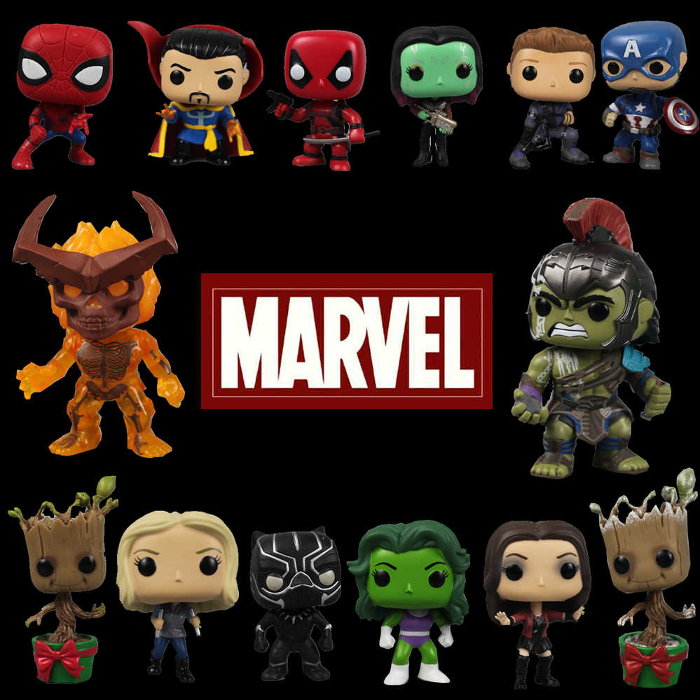 Original Funko pop Marvel Avengers Captain Hulk Agent Doctor Spider-man Thor Surtur Vinyl Action Figure Collectible Loose Toy