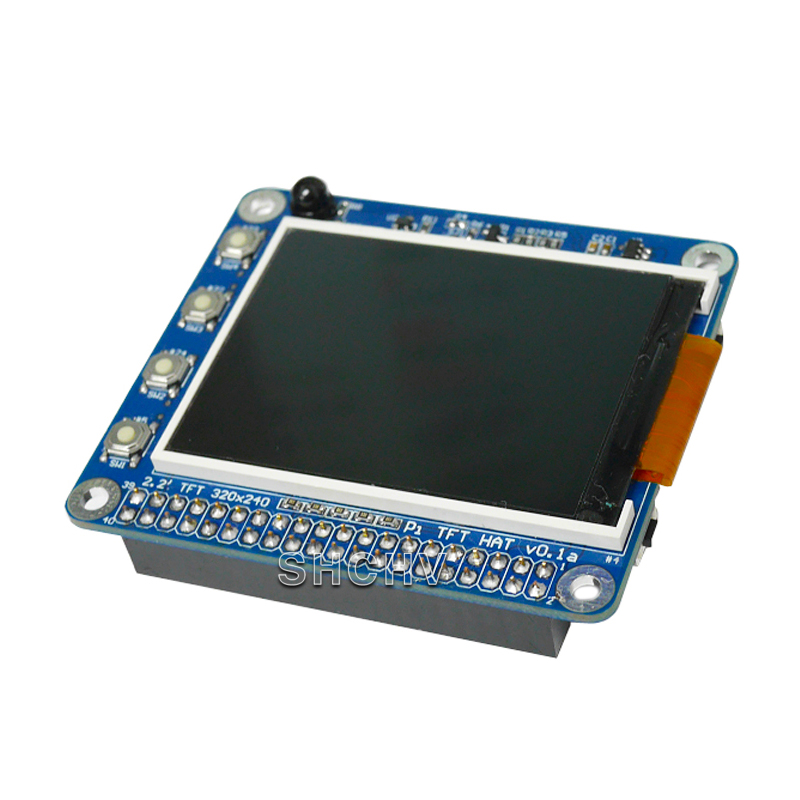 Raspberry Pie 3 Generation B/2 Generation B/B+ General Raspberry Pie 2.2 Inch Screen TFT Display High PPI Extension Key