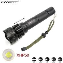 New LED Tactical Flashlight CREE XHP50 /XHP70 Highlight 3000Lumens lanterna aluminum Long Shot zoomable LED flashlight torch