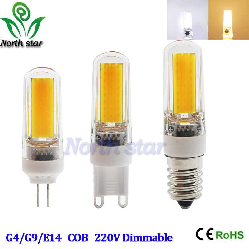 הנורה מיני G4 G9 E14 הוביל מנורת LED COB 3 W 6 W 9 W DC/AC 12 V 220 V אורות נברשת להחליף הלוגן הוביל אור 360 קרן זווית מנורות