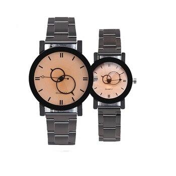 Tendencia moda Simple estudiante hombre mujeres reloj de cuarzo Dial grande  reloj negocios relojes accesorios pareja regalo 961e2b1d9135