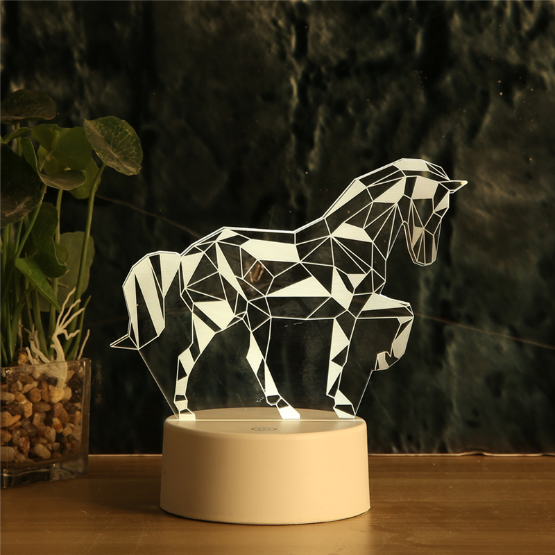 Love gesture LED 3D Night light WarmWhite USB Button Acrylic optic Unicorn Valentines day gift lights nights lamp gifts for love in LED Night Lights from Lights Lighting