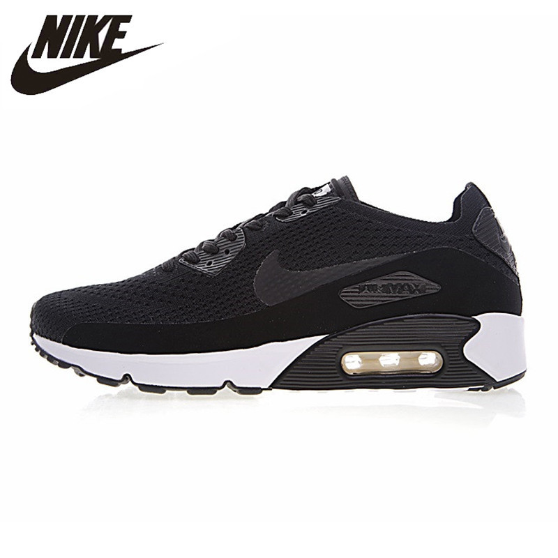 Nike New Arrival Air Max 90 Ultra 2.0 Flyknit Men's Running Shoes Breathable Lightweight Non-slip Sneakers 875943 original new arrival authentic nike air max 90 ultra 2 0 flyknit men s running shoes breathable lightweight non slip outdoor