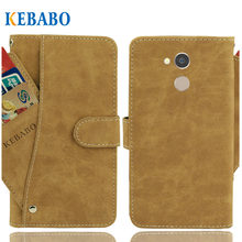 "Vintage Leather Wallet General Mobile GM 8 Case 5.7"" Flip Luxury 3 Front Card Slots Cover Magnet Stand Phone Protective Bags(China)"