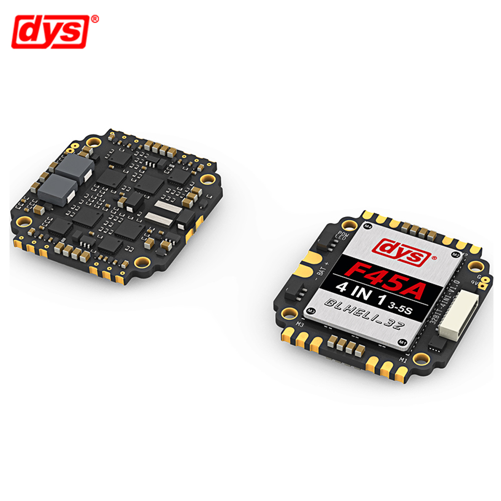 DYS Aria F45A 45A ESC 4in1 Blheli_32 3~5S Lipo 5V/3A & 9V/1.5A BEC 4 in 1 Brushless ESC Dshot 1200 for FPV Racing MulticopterDYS Aria F45A 45A ESC 4in1 Blheli_32 3~5S Lipo 5V/3A & 9V/1.5A BEC 4 in 1 Brushless ESC Dshot 1200 for FPV Racing Multicopter