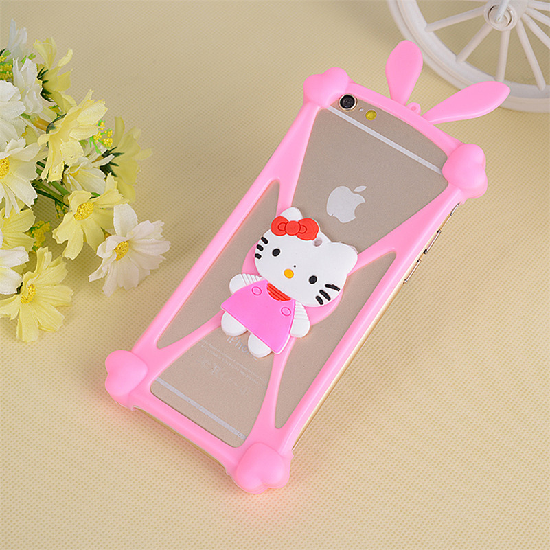 Universal Anti-Shock Silicone Phone Bag Case For myPhone Fun 4 Cartoon Cover for All Mobile Phone 3.7 ~ 6.0 inch