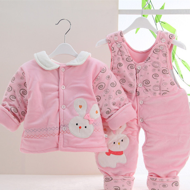 2016 baby girl clothes baby boy clothes cute cartoon baby clothes newborn winter sets cotton costume AY-1102