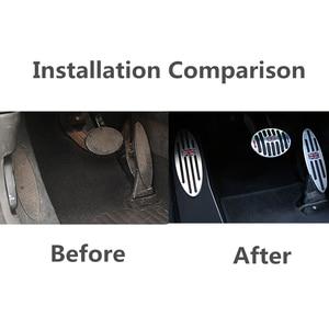 Image 2 - Auto Zubehör für R60 Mini Cooper S R55 R56 R60 R61 F54 F55 F56 F60 Aluminium Fußstütze Gas Bremse Kupplung pedal Abdeckung F56 F60 F55