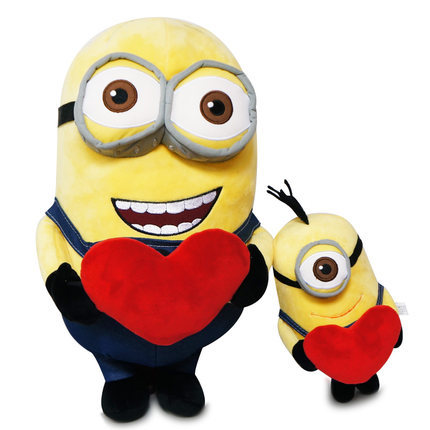 Despicable Me Cartoon Movie Plush Minions Dolls Heart