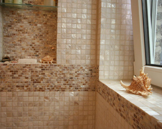 wholesale mother of pearl tiles floor 1 inch square 100 natural shell mosaic bathroom shower - Bathroom Tiles Kolkata
