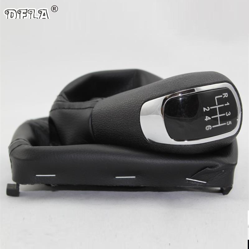 Styling de voiture Pour Skoda SKODA SUPERB MK2 II 2 (08-13) nouveau 6 Vitesse Voiture Manual Gear Bâton Pommeau Avec PU En Cuir Boot