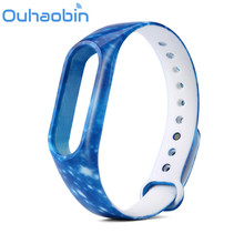 Ouhaobin Colorful Silicone Wrist Strap Bracelet Double Color Replacement watchband for Xiaomi Mi ban